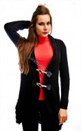 "Cardigan ""Splend'Or"" Black  by JukaFashion.ro cod B00111"