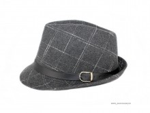 "Palarie Clasica Bumbac ""Alexander"" Grey by JukaFashion.ro"