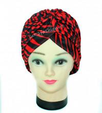 "Turban Femei ""Zebra"" Red&Black by jukafashion.ro"