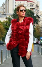 "Vesta Dama ""Bovary"" Red Wine by Jukafashion.ro cod BOV2"