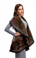 "Cardigan 'Russian Kiss"" Choco Grey by JukaFashion.ro cod B01605"