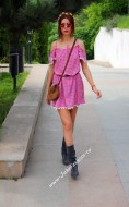 "Rochie  ""Hippie"" Pink by JukaFashion.ro cod 75B"