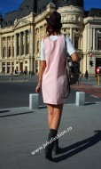 "Sarafan Bumbac ""Nadia"" Pink by JukaFashion.ro cod 8888B"