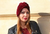 "Turban Catifea Dama ""Juka"" Burgundy by JukaFashion.ro cod 0097"
