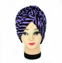 "Turban Femei ""Zebra"" Violet by jukafashion.ro"