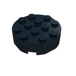 3404bc01-11G Draaischijf 4x4 zwart gebruikt *0D000