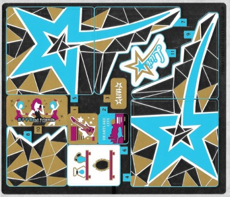 41106stk01 STICKER Pop Star Tour Bus NIEUW loc