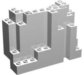 6082-1 Rechthoekig rotsstuk (BURP) LET OP: Kan niet door brievenbus, pakketzending wit NIEUW *5D0000