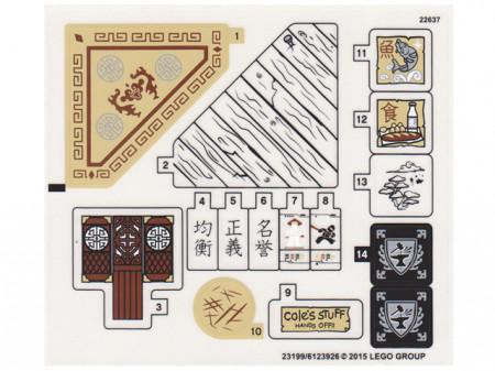70751stk01 STICKER: Temple of Airjitzu NIEUW loc