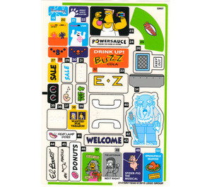 71016stk02 Kwik E-market sticker2 (Welcome) NIEUW *0S0000