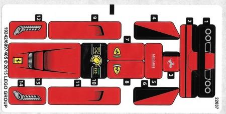 75899stk01 STICKER 75899 La Ferrari NIEUW loc