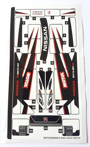 76896stk01 STICKER 76896 Nissan GT-R NISMO NIEUW loc
