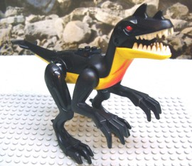 DARaptor1-3 Dinosaurus- Raptor geel NIEUW *