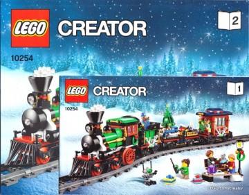 INS10254 10254 BOUWBESCHRIJVING- Winter Holiday Train NIEUW *
