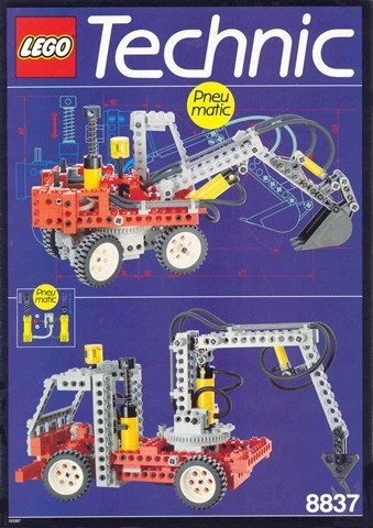 INS8837-G 8837 BOUWBESCHRIJVING- Pneumatic Excavator gebruikt *