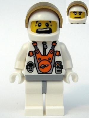 mm011G Astronaut met helm gezicht 2 kanten gebruikt loc
