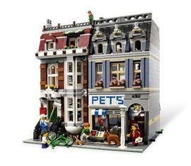 Set 10218 - Modular Buildings: Pet Shop (zonder doos)- gebruikt