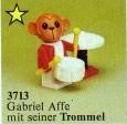 Set 3713-G - Fabuland: Drummer Gabriel Monkey -/-/100%- gebruikt