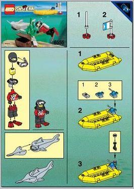 Set 6555 BOUWBESCHRIJVING- Sea Hunter  gebruikt loc