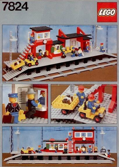 Set 7824 BOUWBESCHRIJVING- Train Station gebruikt loc