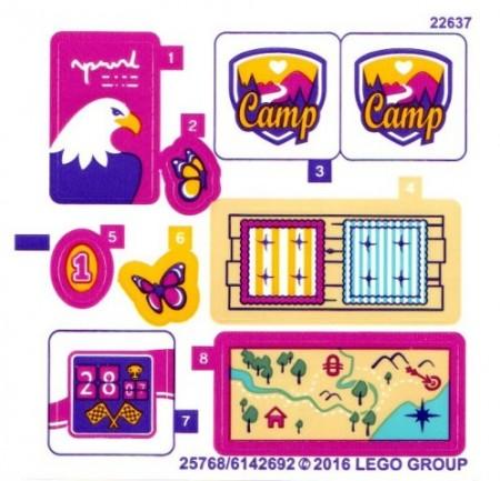 41122stk01 STICKER 41122 FRIENDS Adventure Camp House NIEUW loc