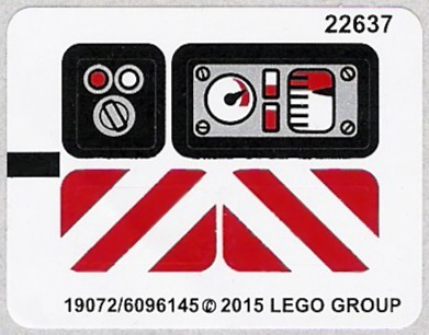 42032stk01 STICKER Compact Tracked Loader NIEUW loc
