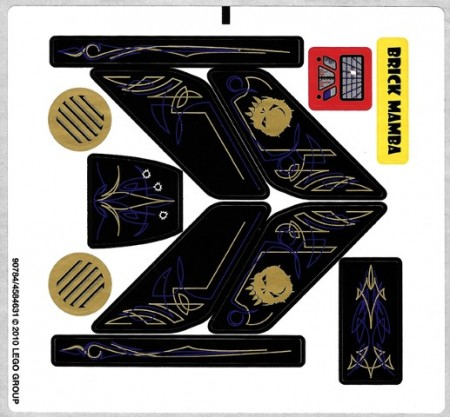 5984stk01 STICKER T-Lunar Limo NIEUW *0S0000