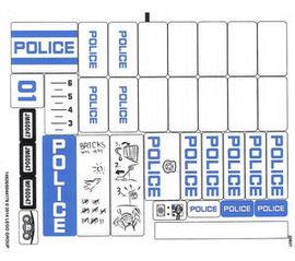 60047stk01 STICKER 60047 Police Station NIEUW *0S0000