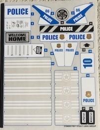 60141stk01 STICKER 60141 Police Station NIEUW *0S0000