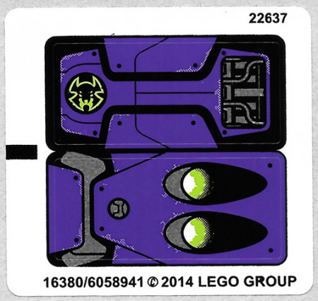 70128stk01 STICKER 70128 Braptor's Wing Striker NIEUW *0S0000