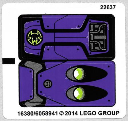 70128stk01 STICKER 70128 Braptor's Wing Striker NIEUW loc