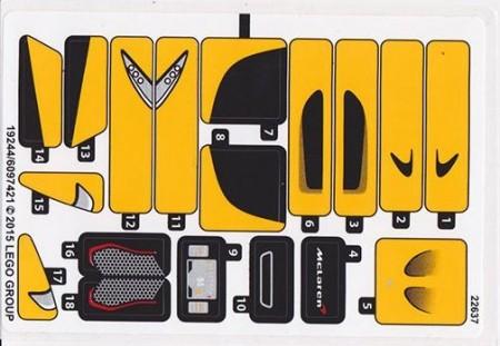 75909stk01 STICKER 75909 McLaren P1 NIEUW *0S0000