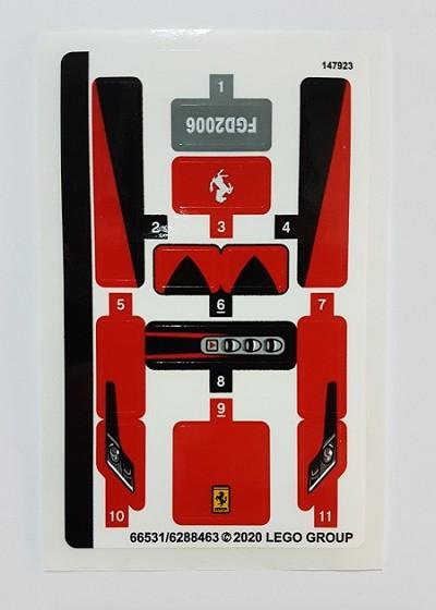 76895stk01 STICKER 76895 Ferrari F8 Tributo NIEUW loc