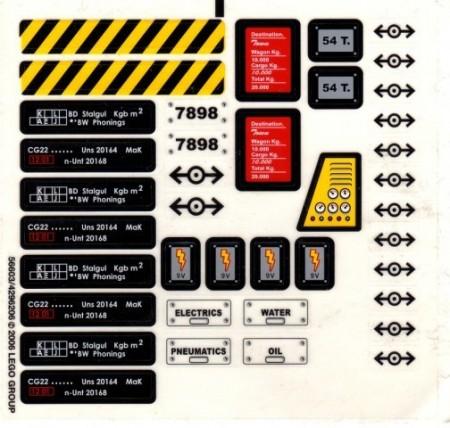7898stk01 STICKER Trein Cargo de Luxe NIEUW *0S0000