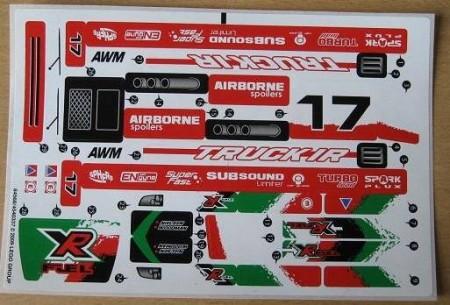 8184stk01 STICKER 8184 Twin X -treme RC NIEUW *0S0000