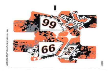 9392stk01 STICKER 9392 Quad Bike NIEUW loc