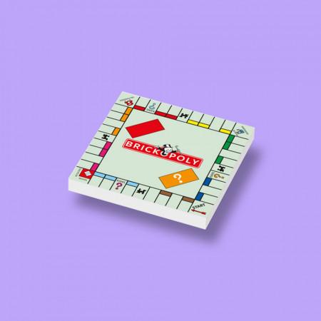 CUS0015 Tegel 2x2 BrickOpoly wit NIEUW *0A000