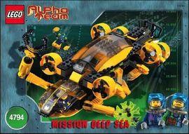 INS4794-G 4794 BOUWBESCHRIJVING- Alpha Team- Mission Deep Sea gebruikt *