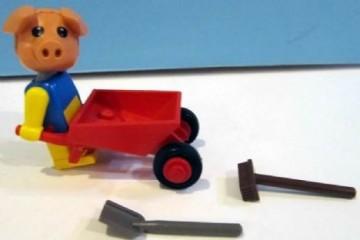 Set 3615-G - Fabuland: Percy Pig's Wheelbarrow -/-/100%- gebruikt
