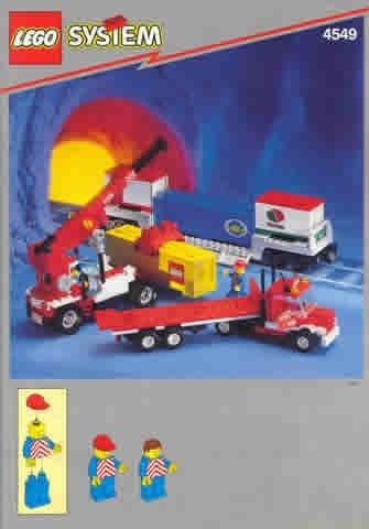 Set 4549 BOUWBESCHRIJVING- Containerstacker en wagon Treinen Auto gebruikt loc LOC M1