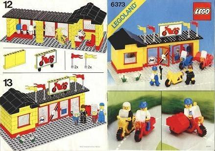 Set 6373 BOUWBESCHRIJVING- Motorcycle Shop gebruikt loc LOC M2