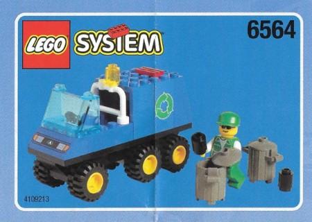 Set 6564 BOUWBESCHRIJVING- Recycke Truck gebruikt loc