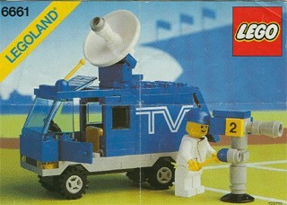 Set 6661 BOUWBESCHRIJVING- TV Van gebruikt loc LOC M3
