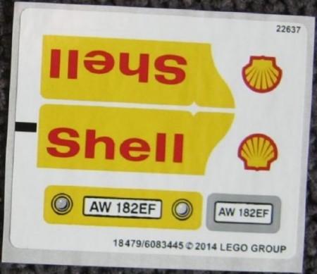 40196stk01 STICKER 40196 Shell Tanker NIEUW *0S0000