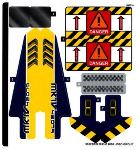 42079stk01 STICKER 42079 Heavy Duty Forklift NIEUW loc