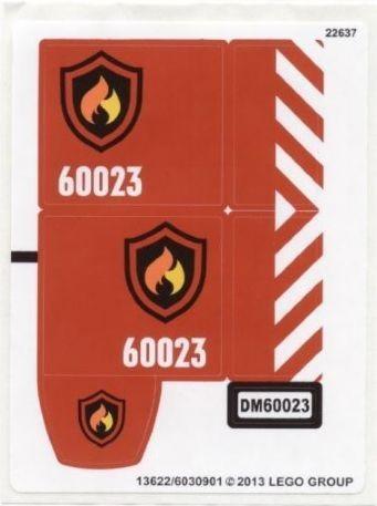 60023stk01 STICKER 60023 City Starter Set NIEUW *0S0000