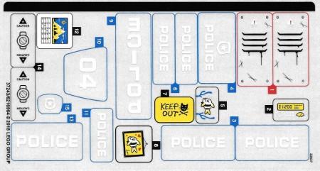 60174stk01 STICKER 60174 Mountain Police Headquarters NIEUW loc