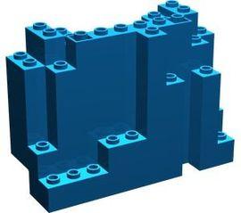 6082-7 Rechthoekig rotsstuk (BURP) LET OP: Kan niet door brievenbus, pakketzending blauw NIEUW *5D0000