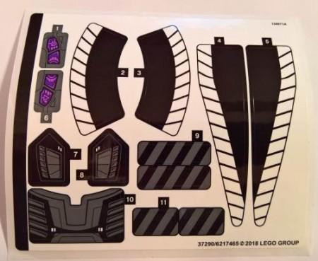 76100stk01 STICKER 76100 Royal Talon Fighter Truck\ NIEUW loc