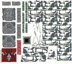 7627stk01 STICKER: Temple of the Crystal Skull NIEUW loc